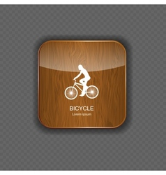 Bicycle wood application icons vector image vector image