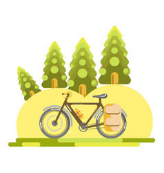 bike in nature vector image vector image
