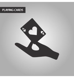black and white style hand playing cards vector image