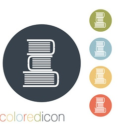 Books tower icon Education sign vector image