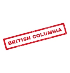 British columbia rubber stamp vector
