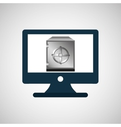 business financial safe box online icon vector image vector image