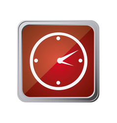 Button with wall clock with background red vector