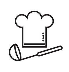 chefs hat with a ladle vector image vector image