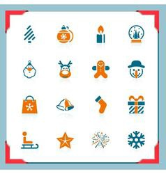 christmas icons - in a frame series vector image