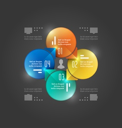 Creative infographics circles diagram vector