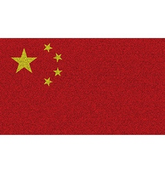 Flags china on denim texture vector