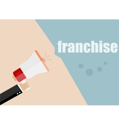 Franchise megaphone icon flat design vector