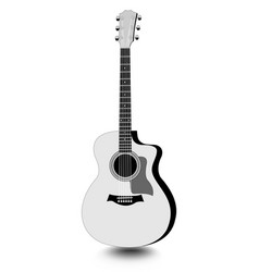 Guitar isolated monochrome drawing with shadow on vector