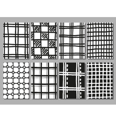 Hand drawing checkered textures vector image