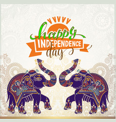 Happy independence day of india greeting card vector