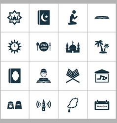 Holiday icons set collection of person man vector