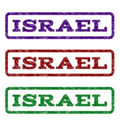 Israel watermark stamp vector