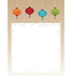 lanterns poster vector image vector image