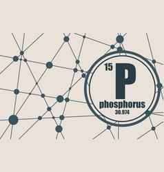 phosphorus chemical element vector image vector image