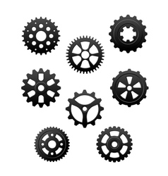 Pinions and gears set vector image vector image