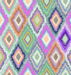 Pretty geometric ikat print vector