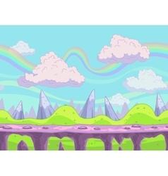 Seamless cartoon landscape vector image vector image
