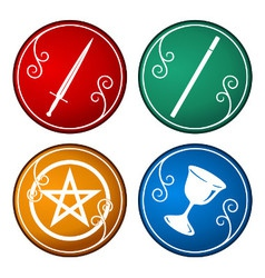 Set of tarot symbol vector