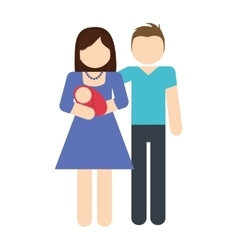 Parents and baby icon avatar family design vector