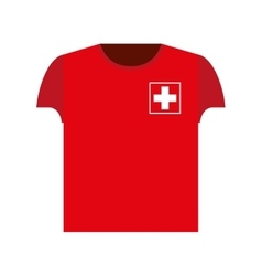 Swiss football player shirt icon vector