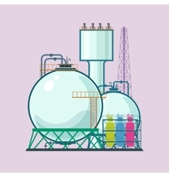 Industrial plant isolated vector