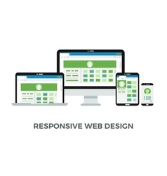 Responsive web design concept website page vector