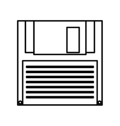 Floppy disk isolated icon vector
