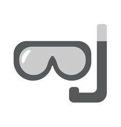 scuba mask flat linear icon vector image
