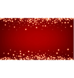 Abstract christmas red luminous background vector