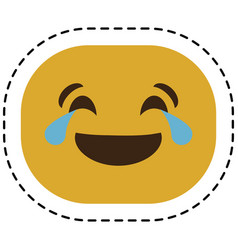 Expression face emoji icon vector