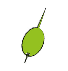 Cocktail olive isolated icon vector
