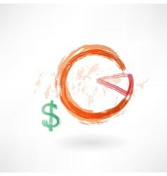 financial schedule grunge icon vector image
