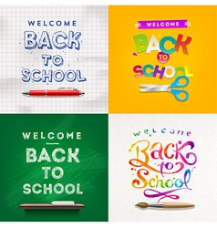 Back to school set of backgrounds vector image