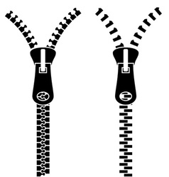zipper black symbols vector image