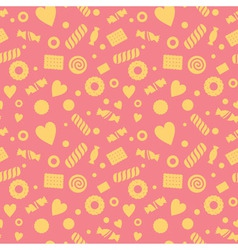 Seamless pattern with candy and cookies vector