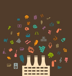 Factory of art vector