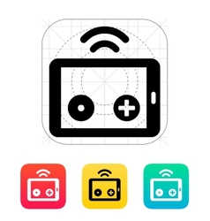 Tablet remote controller icon vector