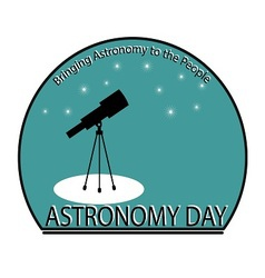 Astronomy day vector