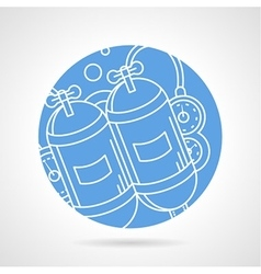 Round icon for aqualung vector