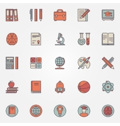 Education colorful icons vector
