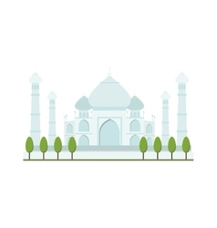 Taj mahal bright clear day india agra palace vector