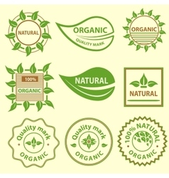 Organic products emblem quality mark logo vector