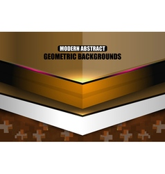 Brown modern geometric abstract background vector