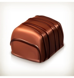 Chocolate candy icon vector