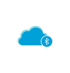 Cloud computing icon bluetooth icon vector