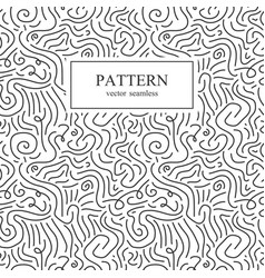 curve seamless pattern vector image vector image