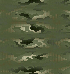 Dot camouflage seamless pattern green vector image