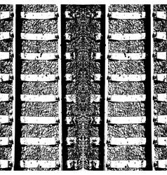 Double track railway lines vector image