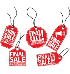 Final sale red tag set vector